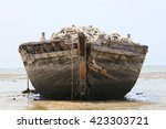 Old Abandoned Boat On Shore Of...