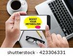 boost your metabolism message... | Shutterstock . vector #423306331