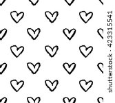 seamless pattern with hand... | Shutterstock .eps vector #423315541
