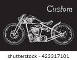 Hand Painted Retro Motorcycle...