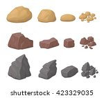 Rocks  Stones Set Various...