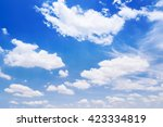beautiful sky with clouds... | Shutterstock . vector #423334819