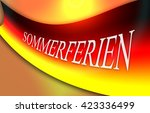 flag of germany with german... | Shutterstock . vector #423336499