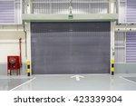 shutter door or rolling door... | Shutterstock . vector #423339304