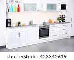 new modern kitchen interior | Shutterstock . vector #423342619