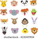 illustration of cute animal... | Shutterstock .eps vector #423345904