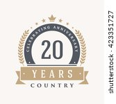 20 years anniversary label ... | Shutterstock .eps vector #423351727