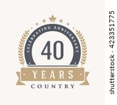 40 years anniversary label ... | Shutterstock .eps vector #423351775