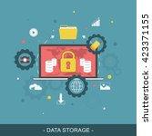 data storage flat vector... | Shutterstock .eps vector #423371155