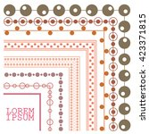 vector decorative with inner... | Shutterstock .eps vector #423371815