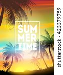 summer tropical background with ... | Shutterstock .eps vector #423379759