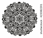 ornamental round pattern. white ... | Shutterstock .eps vector #423382201