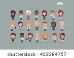 business people vector set | Shutterstock .eps vector #423384757
