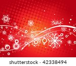 abstract christmas snow on wave ... | Shutterstock .eps vector #42338494