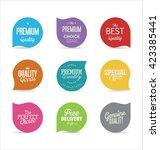 modern badges collection | Shutterstock .eps vector #423385441