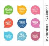 modern badges collection | Shutterstock .eps vector #423385447