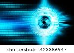 dark blue abstract light hi... | Shutterstock . vector #423386947