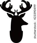 deer head | Shutterstock .eps vector #423390499