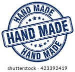 hand made. stamp | Shutterstock .eps vector #423392419