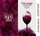 design template background wine ... | Shutterstock .eps vector #423397639
