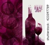 design template background wine ... | Shutterstock .eps vector #423397789