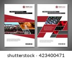 business brochure layout... | Shutterstock .eps vector #423400471