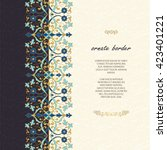 vintage islamic style brochure... | Shutterstock .eps vector #423401221