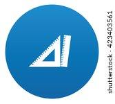 ruler icon design on blue...