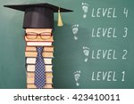 funny level education concept... | Shutterstock . vector #423410011