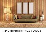 vintage interior with elegant...   Shutterstock . vector #423414031