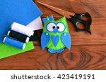 Felt Owl Pattern  Bird Toy Pla...