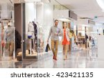 sale  consumerism and people... | Shutterstock . vector #423421135