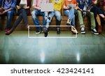 banner ribbon copy space symbol ... | Shutterstock . vector #423424141