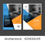 annual report vector... | Shutterstock .eps vector #423426145