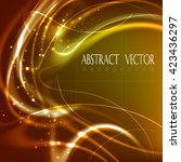 abstract glowing background...   Shutterstock .eps vector #423436297