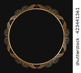 round lace border frame... | Shutterstock .eps vector #423441361