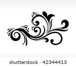 background with isolated black... | Shutterstock .eps vector #42344413