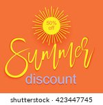 colorful summer sale banner  ... | Shutterstock .eps vector #423447745
