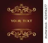 vector vintage border frame... | Shutterstock .eps vector #423456277