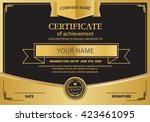 black and gold certificate... | Shutterstock .eps vector #423461095