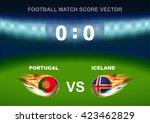 fire on soccer ball of portugal ... | Shutterstock .eps vector #423462829