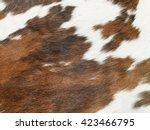 fur cow leather texture... | Shutterstock . vector #423466795