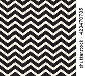 seamless monochrome wavy lines... | Shutterstock .eps vector #423470785