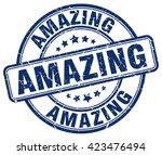 amazing. stamp | Shutterstock .eps vector #423476494