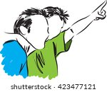 father and son 2 illustration | Shutterstock .eps vector #423477121