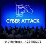 online security cyber attack... | Shutterstock . vector #423480271