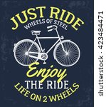 Bicycle Slogan Graphic For T...