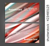 stylish business cards with... | Shutterstock .eps vector #423485125
