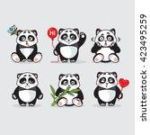 panda bears | Shutterstock . vector #423495259