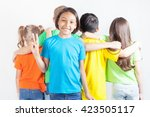 group of friendly childrens... | Shutterstock . vector #423505117